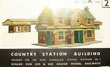 Superquick OO Gauge Country Station Building Card Kit A2