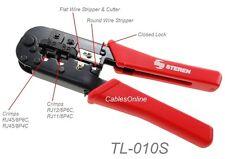 Modular RJ45, RJ12, RJ11 Crimping/Stripping/Cutting Tool