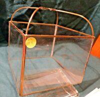 LS-FF31       MID CENTURY Vintage LEADED  Glass Lamp  Light Globe / Shade