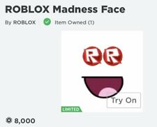 Roblox Madness Face Limited