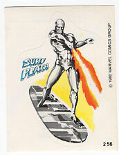 1980 Spanish Marvel Comics Superhero Terrabusi Trade Sticker #256 Silver Surfer
