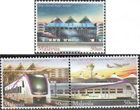Malaysia 1088-1090 mit Paar (kompl.Ausg.) postfrisch 2002 Eisenbahn-Schnellverbi
