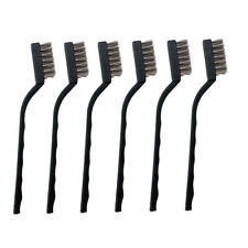 6PCS Mini Stainless Steel/Brass Wire Brush Clean Welding Slag Rust