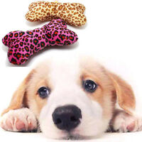Durable Pet Puppy Dog Latex Chew Sound Squeaker Squeaky Training Bone Pillow Toy