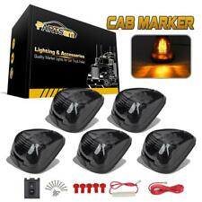5xSmoke Cab Marker 264143BK Lights Amber LED Assembly for Ford F-250 F-350 99-16