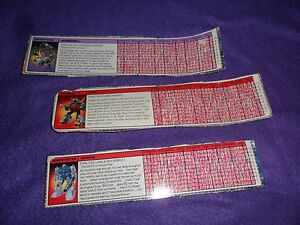Vintage 1980's Transformer Tech Spec FIle Cards FIlecard BOMBSHELL SLAG  TOPSPIN