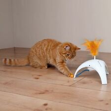 TRIXIE BATTERY OPERATED FEATHER SPINNER CAT KITTEN TOY 3 MOTION SENSORS 46012 HS