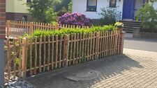 Gartenzaun Set  Staketen Holz Friesen Jäger Latten Natur Zaun Haselnuss Kastanie