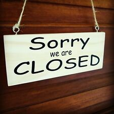 Open & Closed shop sign notice Wood sign - double sided , Vinyl, business