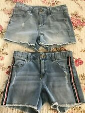 Girls Justice 2 Pair of Jean Shorts Size 14