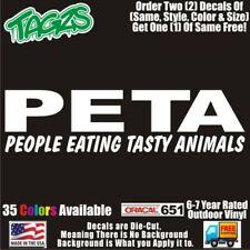 Peta Funny Diecut Vinyl Window Decal Sticker Car Truck Suv Jdm