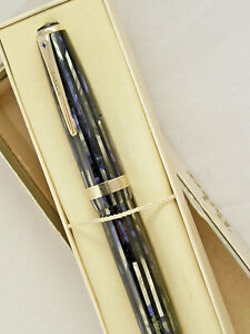 VINTAGE 1944 STRIPED DUOFOLD SENIOR PARKER VACUMATIC FOUNTAIN PEN ~ RESTORED!
