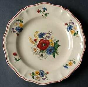 """AGRESTE by Sarreguemines Dinner Plate made in France 9 7/8"""""""