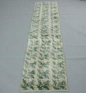 Vintage Floral Design Bohemian Style Runner Rug Turkish Anatolian Carpet 2x10ft.