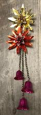Vintage Christmas Flower bells Mercury beads foil 40s /50s Rustic Barn Estate