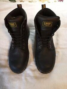 "DR. MARTENS 6"" Work Boot Size13,M,Black,Steel,PR"