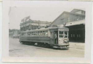 1930s Public Service of New Jersey Streetcar #2600 Caldwell NJ Car Barn Photo