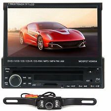 """7"""" Single 1 Din In Dash Car Stereo Radio DVD Player Bluetooth Touch E2 CD+Camera"""