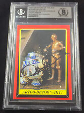 ANTHONY DANIELS & KENNY BAKER C3PO R2-D2 TOPPS CARD STAR WARS SIGNED BAS BECKETT