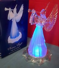 "Christmas Delight Songs of Triumph Acrylic Angel With Lighted Base 10"" T Trumpet"