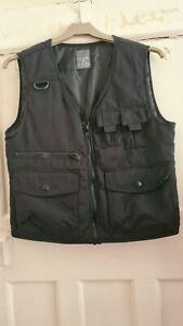 Primark XXS 4-6 Black Combat Vest Gilet Lightly Padded Pockets Teenager Woman