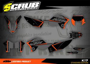 KTM graphics EXC EXCf 125 200 250 300 400 450 530 2008 2009 2010 2011 SCRUB