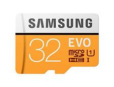 Samsung MicroSDXC EVO - Tarjeta de memoria MicroSD 32 GB, SDXC Clase 10, 95 MB/s