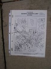1966 Clinton E75-1000 Chainsaw Illustrated Basic Parts List MORE IN OUR STORE  G