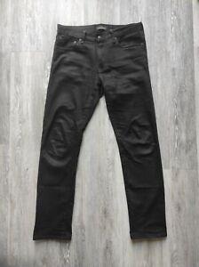 Uniqlo Selvedge Slim Straight Jeans W32 L32 - Black