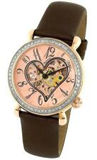 Stuhrling 109S 1245E14 Venus Automatic Skeleton Heart Diamond Bezel Womens Watch