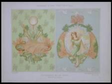 MULIER, LA PECHE, ART NOUVEAU -1900- LITHOGRAPHIE, ALGUES