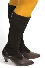Damenstiefel True Vintage Stiefel Leder Heels 50s 60s Stretch Braun Maripe 38,5