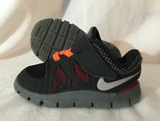 Nike Free 5.0 Shoes Baby Toddler Size 5C Orange Red Black