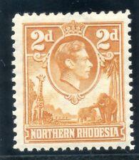 Northern Rhodesia 1938 KGVI 2d yellow-brown superb MNH. SG 31. Sc 31.