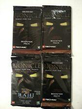 Bionicle Booster Card Packs X 4 TCG Original Rahi Upper Deck