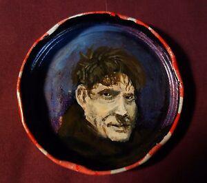 JACK LONDON Jam Jar Lid Portrait, Literary, New Orleans Outsider Art PETER ORR