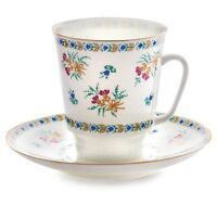 Imperial Porcelain Tea Cup and Saucer Bluebells Paper Thin Lomonosov Porcelain