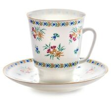 Imperial Porcelain Tea Cup and Saucer Bluebells FLASH SALE Lomonosov Paper Thin