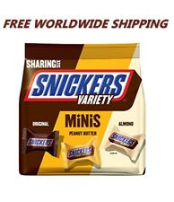 Snickers Variety Minis Original Peanut Butter & Almond 8.90 Oz WORLD SHIP
