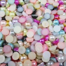 35pcs Mix Half Pearl Bead Flat Back 12mm Scrapbook for Craft FlatBack NEW