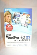 Corel WordPerfect x3 Home MediaWorks NEW-SEALED BOX.