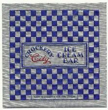 3 -1950's Crockery City Foil Ice Cream Bar Wrappers East Liverpool, Ohio