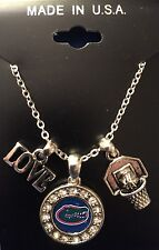 """New Florida Gators Love Basketball 18"""" Necklace,Charm, Gift for Her Mom"""