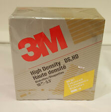 "10  3.5"" Floppy Disk 3M Formatted IBM High Density DS, HD Diskettes NIB"