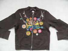 NOLITA POCKET tolle Sweatshirtjacke mit Druck und Ketten braun Gr.12 J TOP ST519