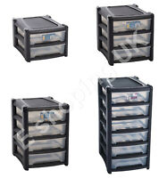 Plastic Storage Drawers A4 Size Home Office Tower Unit Organizer Tidy Paper Rack