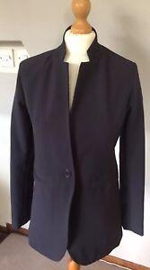 RISSKIO ladies Grey Smart Business Tailored Jacket SIZE 10 UK FABULOUS
