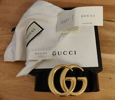 GUCCI Leather belt with double G buckle 406831DJ20T