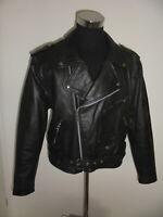 vintage TECONE Motorradjacke Leder Bikerjacke US leather motorcycle jacket M/L