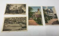 VINTAGE LOT OF 4 WILLIAMSBURG VA LINEN POSTCARDS Inn and Houses